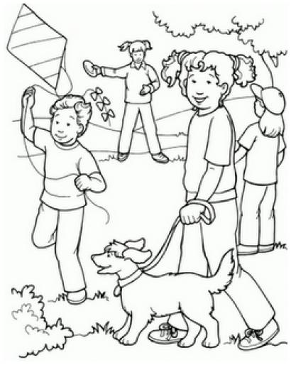 Dibujos para colorear la comunidad rural - Imagui