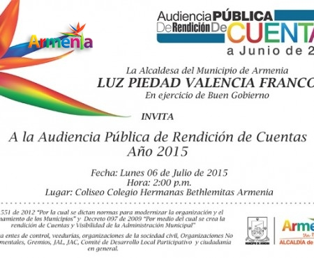 Banner Rendición de Cuentas 2015 Boletín